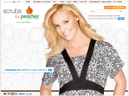 Peaches Scrubs from Peaches Uniforms - Peaches Scrub Tops, Peaches Scrub Pants, Peaches Print Scrubs, Izzy Scrubs, Peaches Lab Coats, Medcouture and more